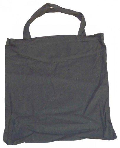 10 Baumwolltragetasche Stofftasche schwarz 38x42+40