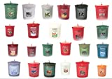 Yankee Candle Votives - Grab Bag of 10 Assorted Votive Candles (10 Ct Christmas Fragrances Mixed)
