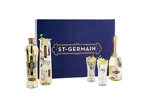 St-Germain Hugo Cocktail Kit, Ottimo Come Idea Regalo e per Realizzare a Casa l'Aperitivo Hugo - contiene St-Germain Liquore ai Fiori di Sambuco 70cl e Prosecco Martini Premium 75cl
