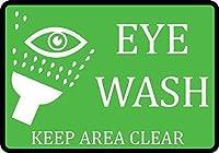 ヴィンテージアルミニウムレトロな金属サインインチ、目を洗う領域の明確なサイン、家の装飾、ヴィンテージメタルティンサインパブバーの装飾のプロパティ通知サインプラークの面白い警告サイン