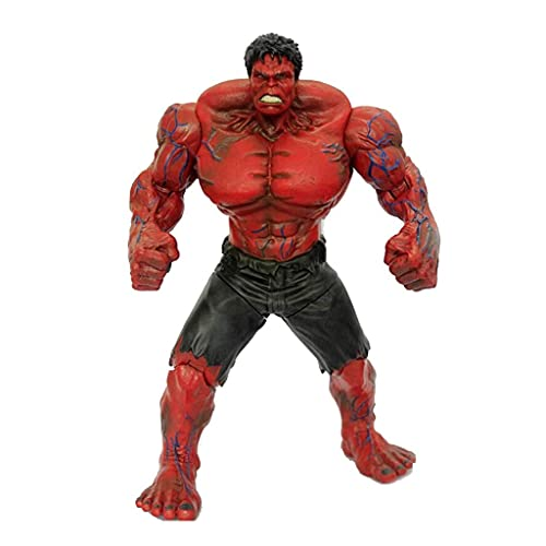 ZDVHM Action Figure Marvel Avengers Red Hulk Anime Figure Figurine Character Model Statue Desktop Ornaments Collectibles Children Toys Gifts 11 Inch / 27CM