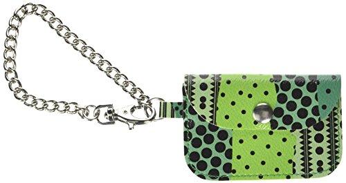 O bag Mini Etnico, Pochette da Giorno Donna, Verde, 0.5x6.3x9.5 cm (W x H x L)