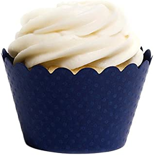 Dress My Cupcake Standard Navy Blue Cupcake Wrappers, Set of 50