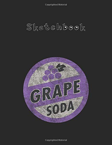 Sketchbook: Disney Pixar Up Grape Soda Bottle Cap Pin  Large Size 8.5in x 11in x 110 Pages Unlined Pages Sketchbook White Paper Blank Journal with Black Cover for Kids - Students Or Teachers.