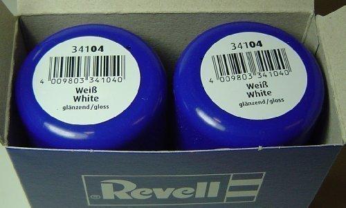 Revell 34104 Sprühlack Doppelpack ( 2x100ml) Weiss glänzend