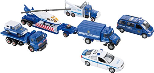 Small Foot 8586 Modellautos Polizei, 9-er Set