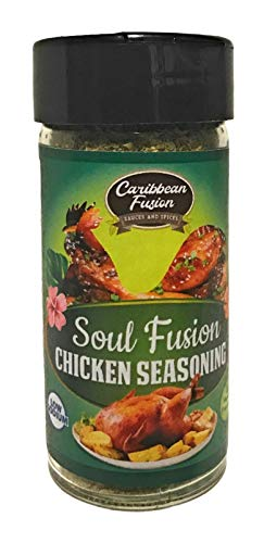 Caribbean Fusion – Gourmet Fusion Soul Chicken Seasoning | Vegan Friendly, Perfect as a Rub or Grilling Ribs, Poultry, Chicken, Wings and BBQ