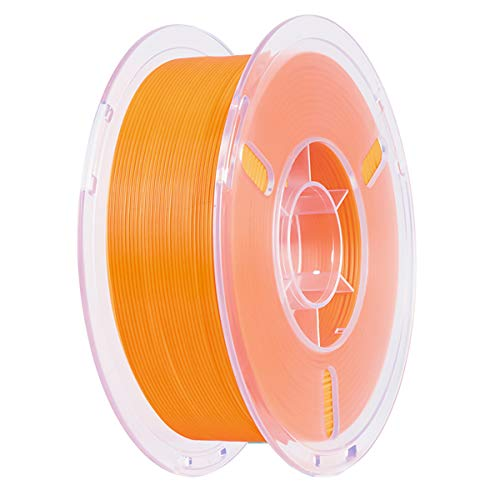 Impresora 3D Filamento PLA+ 1KG PLA Plus (PLA Pro) Filament 1.75mm +/- 0.02 mm para 3D Printer, 3D Pen, Envasado al Vacío   Mayor resiliencia   Sin Enredos, 6 Colores (Naranja)