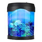 Kuuleyn Lámpara de Peces USB Luz de Acuario Escritorio Mini Tanque de Peces Estado de ánimo Iluminación LED Lámpara de Noche Que Cambia de Color