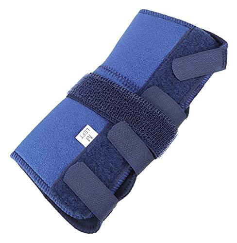 LIXBD Handgelenkbandage, Handgelenkbandage, Fixiergurt, Handfixierung, Unterstützung beim Schlafen mit Schiene, Handgelenkschutz, Schutzband, blau, linke Hand (Farbe: Blau, linke Hand)