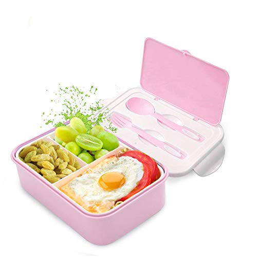 Fambrera Infantil, Lunch Box, Fiambrera con 3 Compartimientos, Cuchara