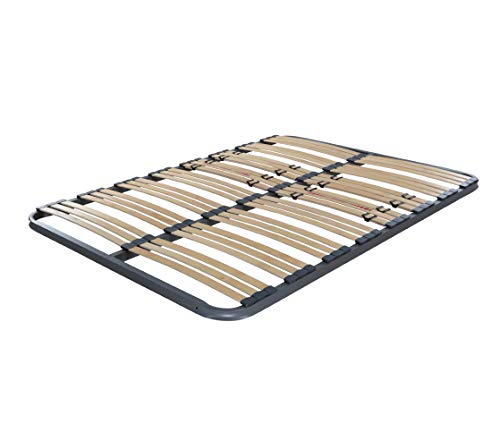 Dormidán - Somier Somieres multiláminas con regulación lumar, Tubo de Acero 40x30mm, Medida 80x180cm sin Patas.