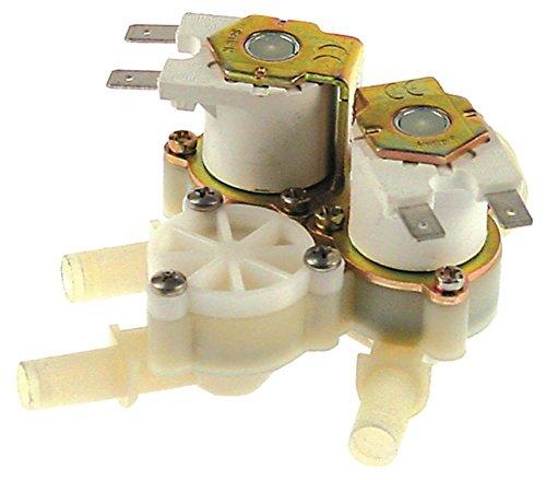 RPE - Válvula magnética para Lainox HME101P, MG202T, ME101T, GEMT40P, ME102T (plástico, 230 V, 3 entradas, 3/4', salida de 10 mm, 3 capas)