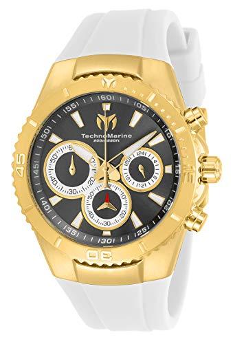 Technomarine Women's Sea Manta Stainless Steel Quartz Watch with Silicone Strap, White, 26 (Model: TM-218038)