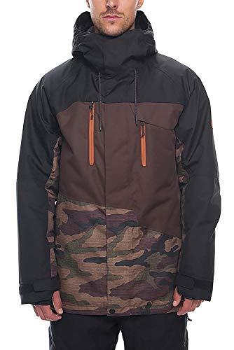 686 Men's Geo Insulated Jacket | Waterproof Ski/Snowboard Jacket | Dark Camo - XL