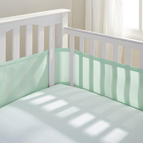 BreathableBaby Classic Mesh Crib Liner, Anti-Bumper, Non-Padded, Standard, Mint Green