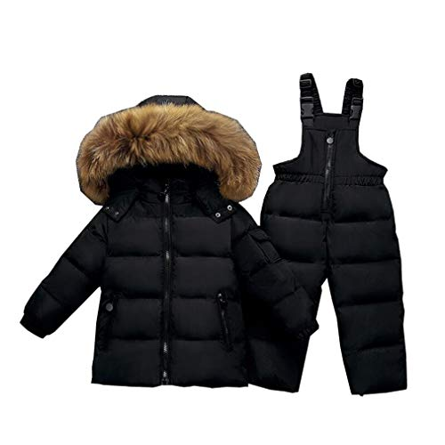 Unisex Baby Cartoon Snowsuit Winter Warm Baby Girls Boys Snow Suit Fur Hood...