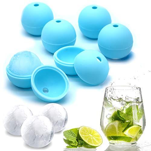 Hector&Dwight N.ICY Balls - Eiskugelform Silikon 6 Stück - 4cm Eiskugeldurchmesser - BPA Frei