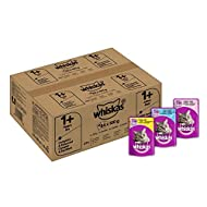 whiskas 1+ Wet Cat Food for Adult Cats, Mixed Selection in Jelly, 84 Pouches (84 x 100 g)