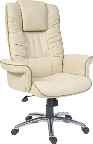Teknik Windsor Cuero Color Crema Silla Oficina