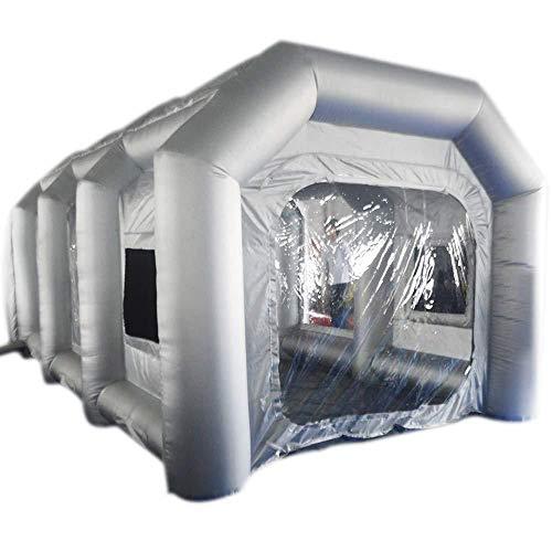 Tanti 4 * 2,5 * 2,2M Aufblasbares Zelt zum Sprühlackieren, Oxford PVC Aufblasbare Sprühkabine Zelt, Arbeitszelt Aufblasbare Lackierkabine Zelt für Autolackierung und Autoschutz