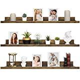 36 Inch Floating Shelves for Wall, Set of 3 in Walnut Brown, Modern Rustic Style, Wall Mounted Display Shelves, Picture Ledges by Icona Bay