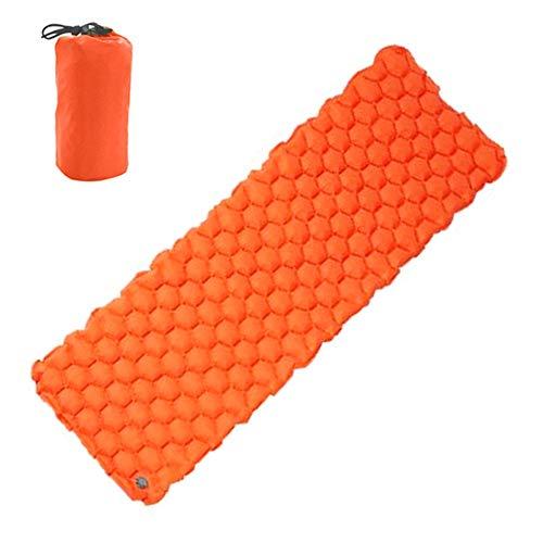TreeLeaff - Colchoneta hinchable para acampada, colchoneta ultraligera para mochileros, camping, senderismo, color Naranja, tamaño without Pillow