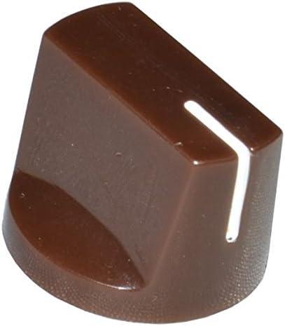 DIYPedalGearParts® 3 x Knob Davies clone 1510 brown, stomp box pedal effect