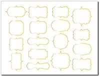ビンテージフレーム ポーセラーツ転写紙 陶器用 A4