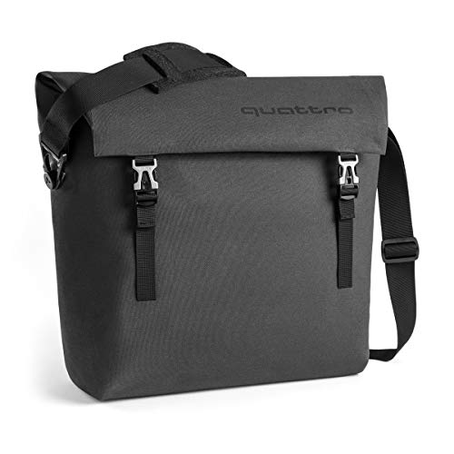 Audi collection 3151800600 Quattro Messenger Bag, dunkelgrau