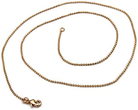 Time Lowest price challenge sale 1 Gold Tone Ball Chain Necklace - 20 with Clasp inches Lobster