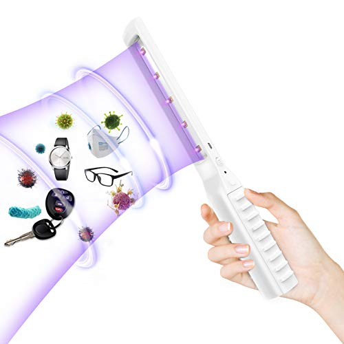 Victostar UV-C Sterilisations Lampe,Antibakterielle Rate 99.9% USB Handheld Tragbare UV Desinfektionsmittel Desinfizieren Licht für Zuhause, Büro, Hotel, Schule, Restaurant,Auto