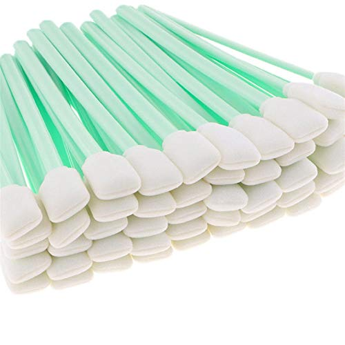 Durable 100PCS Cleaning Swabs for Large Format Solvent Printer Printhead Cleaning Sponge Stick Swabs Buds Foam Office Supplies (Color : 100PCS)
