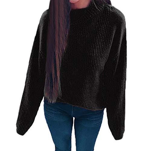 HOMEBABY Dames Klassieke Truien voor Vrouwen Koop Coltrui Lange Mouw Chunky Gebreide Jumper Lange Sweatshirt Winter Warm Pullover Tops Blouse