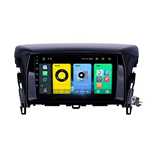 Gokiu Android 10 Car Radio de Navegación GPS para Mitsubishi Eclipse 2018 con 9 Pulgada Pantalla Táctil Support FM Am RDS DSP/MP5 Player/BT Steering Wheel Control/Carplay,7862: 4+64