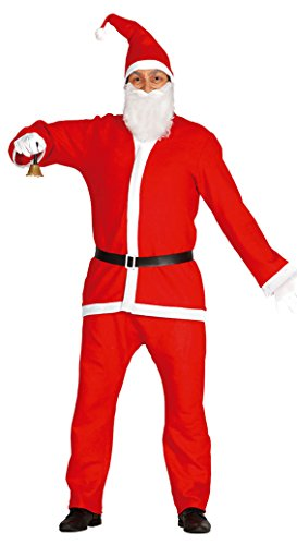 Guirca–Déguisement Père Noel adulte, taille L, couleur rouge (42692.0)