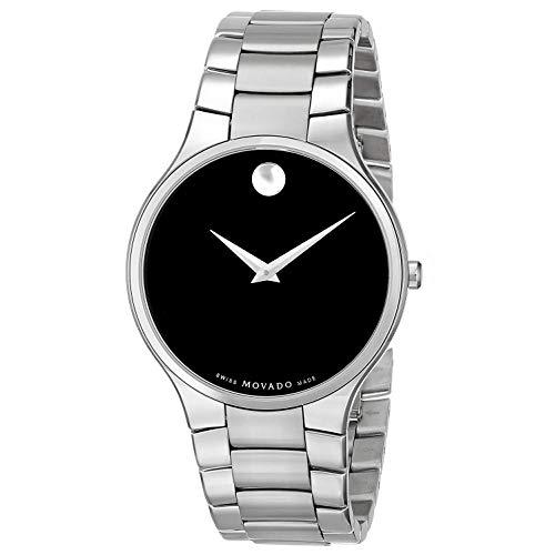 Movado Herren-Armbanduhr 38mm Armband Edelstahl + Gehäuse Quarz Analog 606382