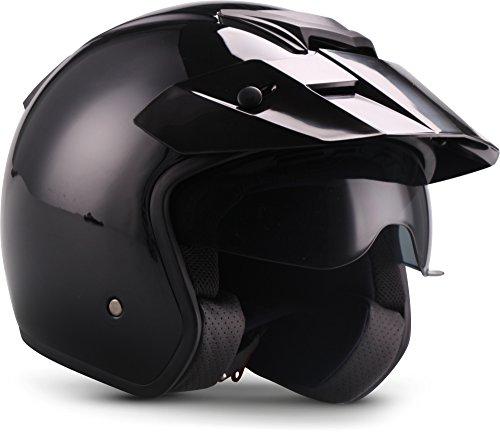 """MOTOHelmets® S77 """"Shiny Black"""" · Jet-Helm · Motorrad-Helm Roller-Helm Scooter-Helm Bobber..."""