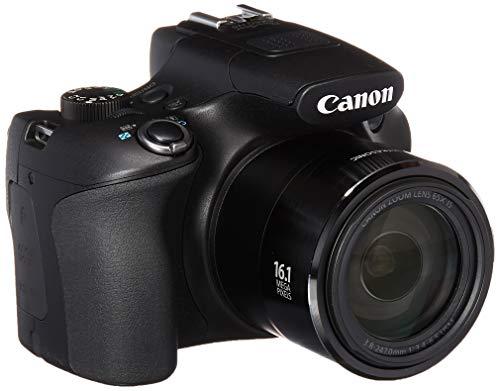 Canon Powershot SX60 16.1MP Digital Camera 65x Optical Zoom Lens 3-inch LCD Tilt Screen (Black) (Renewed)