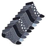 Celodoro Damen Süße Eco Sneaker Socken (10 Paar), Kurzsocken aus regenerativer Baumwolle - Navy Blue 39-42