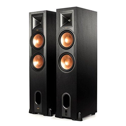 Klipsch R-28PF Surround Powerful Floor Standing Speaker | Set of 2 - Black