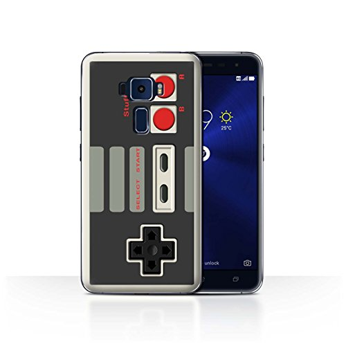 Hülle Für Asus Zenfone 3 ZE552KL Spielkonsolen Klassisches Nintendo Design Transparent Ultra Dünn Klar Hart Schutz Handyhülle Case