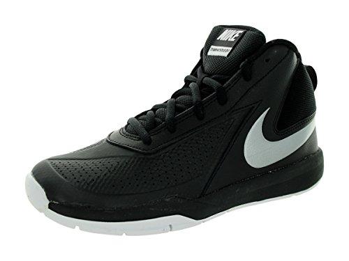 Nike Nike Team Hustle D 7 (Gs), Jungen Basketball Turnschuhe, Mehrfarbig - Schwarz/Silber/Weiß (Schwarz/Mtllc Silber-Weiß-Schwarz) - Größe: 38 1/2