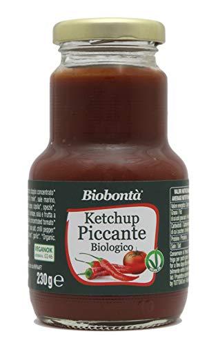 Ketchup piccante bio artigianale e italiano, vegano, senza glutine, senza lattosio - (230 g)