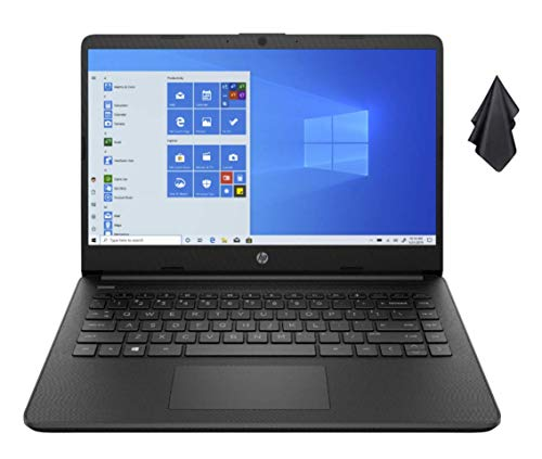 2021 Newest HP Stream 14-inch HD Non-Touch Laptop, Intel 2-Core N4020 up to 2.8 GHz, 4 GB RAM, 64 GB eMMC, WiFi, Webcam, Bluetooth, Windows 10 S with Office 365 for 1 Year, Black + Oydisen Cloth
