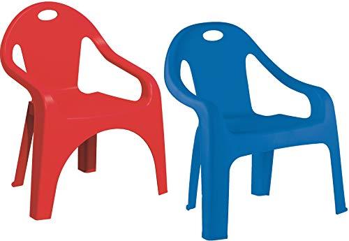Starplast 2er Set Kinderstuhl Lucky Blau + Rot