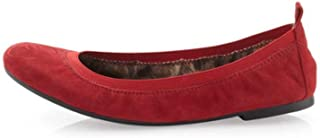 Women's Cayla Flat, Ruby Red Suede, 6.5 M