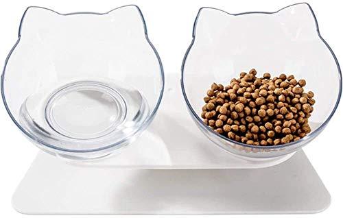 YYhkeby Katzenfutter-Schüssel Katze Schalen Kunststoff-Fressnäpfe for Hunde Langsam Feeder Hundenapf Hunde Katzen Trinken Bowl Hundenäpfe Medium Doppel Cat Bowl Jialele