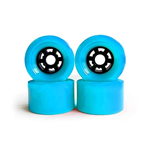 Rueda F-Jiujin 4PCS Rueda de Skate de Cuatro Ruedas Rueda de Skate eléctrica Rueda Larga Junta Grande Amortiguador de Rueda 83x52mm (Color : Light Blue)