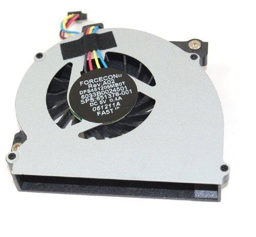 iiFix Ventilador de refrigeración de CPU para HP Elitebook 2560P 2570P, P/N: 6043B0114401 651378-001 MF60090V1-C130-S9A DFS451205MB0T FA5T 6033B0024501